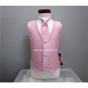 Poly Silk Vest & Necktie Set