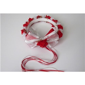 Halo - Floral Crown - White/RED