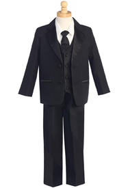 Austin  Baby & Boys Suit - BLACK