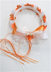 Halo - Floral Crown - White/Orange