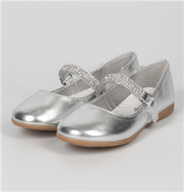 Kelly Girls Flat Shoes - SILVER