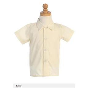 Boys Ivory Dress Shirt - Short sleeves