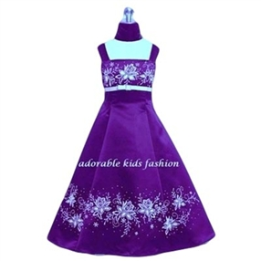 Scarlett Purple Flower Girl Dress