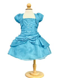 Sally Baby Girls Dress:  TURQUOISE