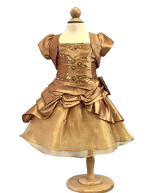 Sally Baby Girls Dress:  ANTIQUE GOLD