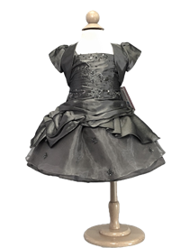 Sally Baby Dress: PEWTER