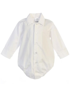 Onesie Dress shirt: WHITE