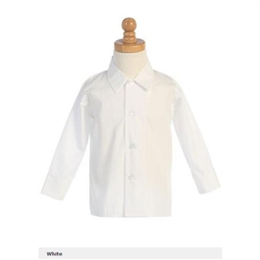 Boys White Dress Shirt - long sleeves