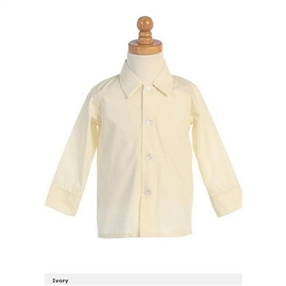 Boys Long Sleeves Dress Shirt - IVORY