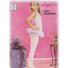 Girls White Panty hose