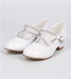 Daisy Girls Dress Shoes - WHITE