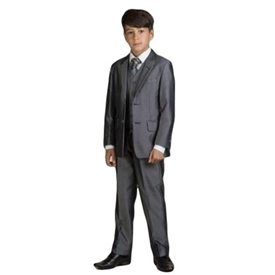 James  Boys 5pc Slim Suit: CHARCOAL