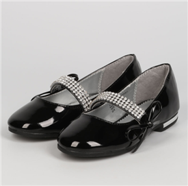Ashley Girls Dress Shoes - BLACK