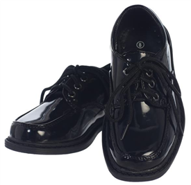 Jackie Boys Dress Shoes: PATENT BLACK -