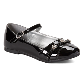 Britt Girls Dress Shoes - BLACK