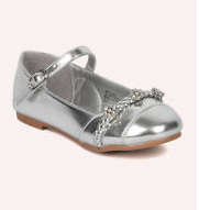 Britt Girls Dress Shoes - SILVER