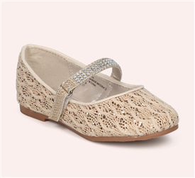 Deeana Glitter Flat Shoes - GOLD