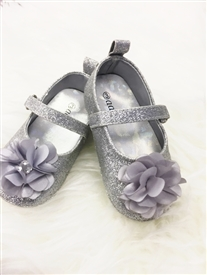 Adeela Infant Girls Flat Shoes - SILVER -
