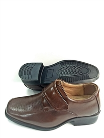 Alex Boys Dress shoes w/ velcro:  BROWN