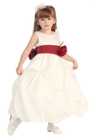 -Katie IVORY Flower Girl Dress (Interchangeable Sash): Size 5