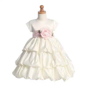 Ivory Tiered Flower Girl Dress