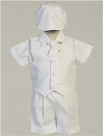 Chase Boys White Short Outfit