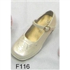 Girls Ivory Dress Shoes