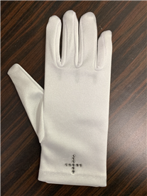 Satin Gloves White (0-16 years)