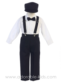 Bernard 5pc Boys Suspender Set - BLACK