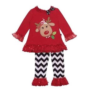 2pc Reindeer Applique Set