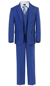 Harry  Boys 5pc Slim Suit - COBALT BLUE
