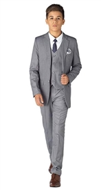 Harry  Boys 5pc Slim Suit - GRAY