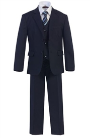 Harry  Boys 5pc Slim Suit - NAVY