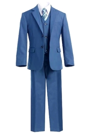 Harry  Boys 5pc Slim Suit - OCEAN BLUE