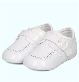 Jamie PATENT Boys Dress Shoes - WHITE -