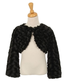 Jacket Rose Fur: BLACK
