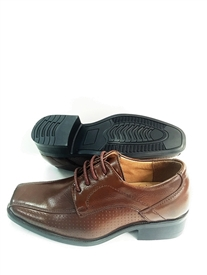 Josh Boys Dress shoes w/ laces:  BROWN