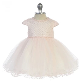 Jaden Baby Dress: Blush