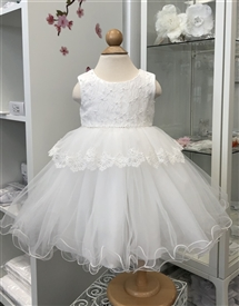 Lexie Baby Girls Dress: Off white