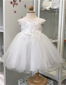Maritzia Baby Girls Dress: Off White