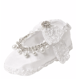 SS046 Girl's Baptism/Christening Shoes - WHITE