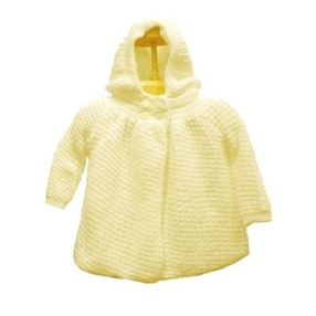 Knit Baby Cardigan with Hood
