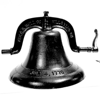 cast iron freedom bell