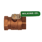 Wilkins - 2-850TXL - 2-inch 850T Ballvalve With Tap Lead Free