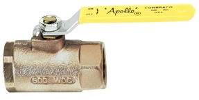 "1"" Thread Ball Valve w/SS Lever & Nut"