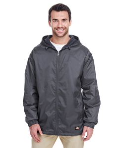 Dickies ; Outerwear  Mens Fleece-Lined Hooded Nylon Jacket