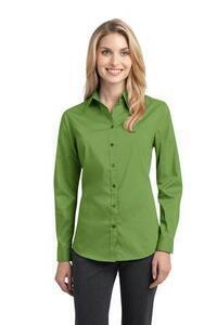 Port Authority ; Ladies Woven Shirts DISCONTINUED  Ladies Stretch Poplin Shirt