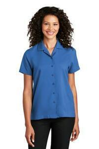 Port Authority ; Woven Shirts Camp Shirts Ladies Short Sleeve Performance Staff Shirt
