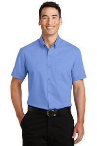 Port Authority ; Woven Shirts Cotton/Poly Blend Short Sleeve SuperPro Twill Shirt