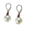 Fine Pearls and Leather Jewelry by Designer Wendy Mignot Coastal Single Freshwater Earrings White